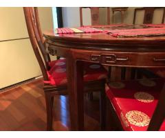 Chinese Rosewood Dining Table Set