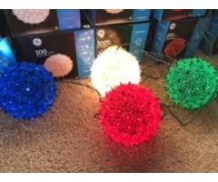 Outdoor Holiday Super Sphere Lights - set of 13