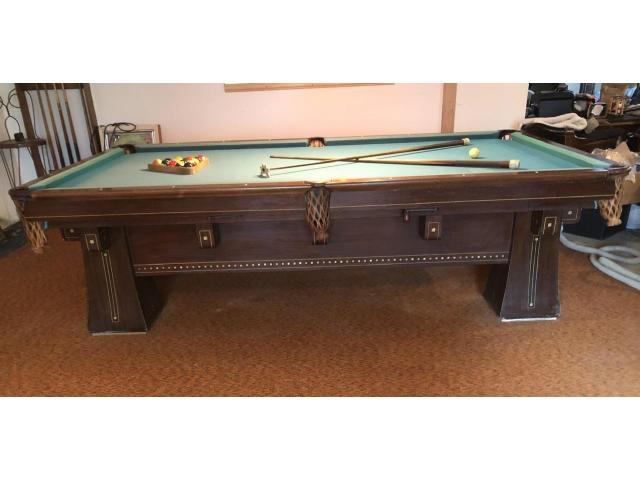 Pool Table circa 1916