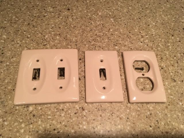 Ceramic light switch plates
