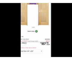 Pair of solid maple doors