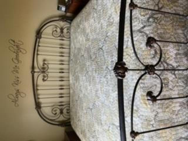 Metal King Size Headboard and Footboard