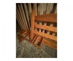 Maple bunk beds plus mattresses