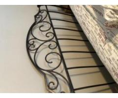 Wrought Iron Sleigh Bed Frame- Queen
