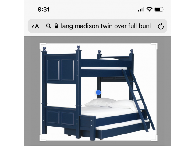 Lang Madison twin over full bunk bed