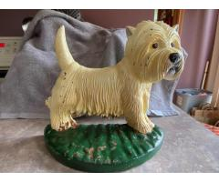 Cast iron Westie doorstop/bookend