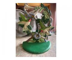 Cast iron Hummingbirds doorstop/bookend