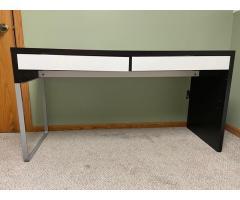 Modern and minimal black and white desk